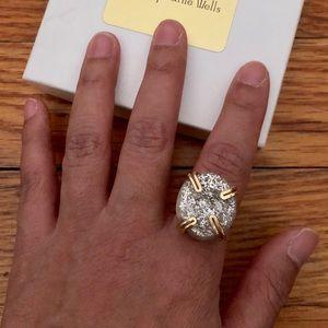 Raw crystal druzy ring 7